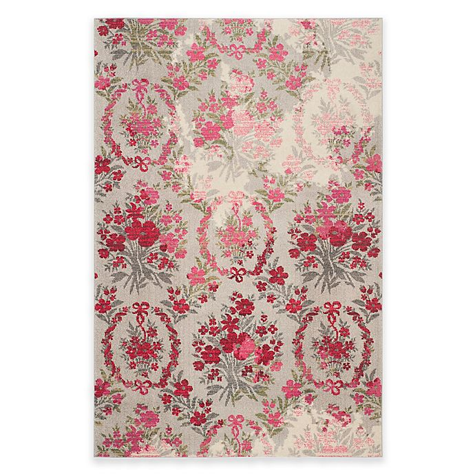 Alternate image 1 for Safavieh Monaco Bouquet 5-Foot x 7-Foot Area Rug in Ivory/Pink