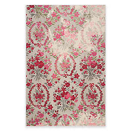 Safavieh Monaco Bouquet Area Rug in Ivory/Pink