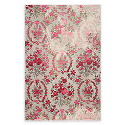 Safavieh Monaco Bouquet 6-Foot 7-Inch x 9-Foot 2-Inch Area Rug in Ivory/Pink