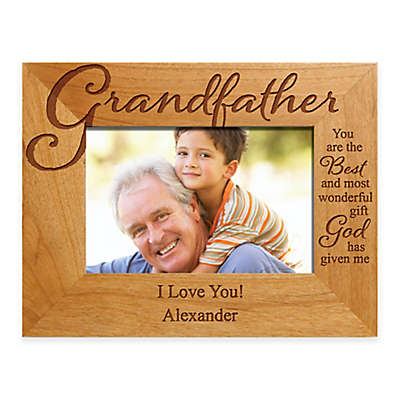 "Grandfather ""The Best Gift"" 4-Inch x 6-Inch Picture Frame"