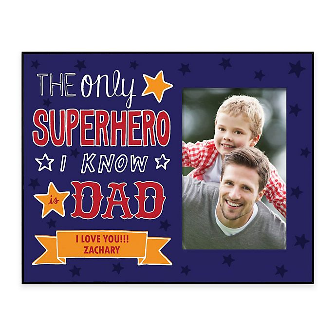 Alternate image 1 for Superhero Dad 4-Inch x 6-Inch Picture Frame