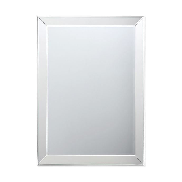 Alternate image 1 for 33.5-Inch x 45.5-Inch Beveled Wall Mirror in Silver