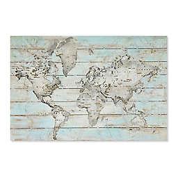 World Map 31.5-Inch X 47.2-Inch Wood Wall Art