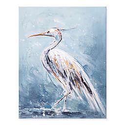 White Heron 16-Inch x 20-Inch Canvas Wall Art