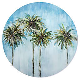 Palm Trees 28-Inch Round Canvas Wall Art