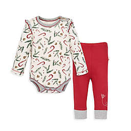 Burt's Bees Baby® 2-Piece Candy Cane Forest Organic Cotton Bodysuit and Pant Set