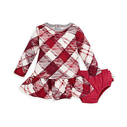 Burt's Bees Baby® Very Merry Buffalo Check Organic Cotton Dress with Diaper Cover
