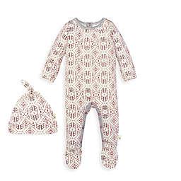 Burt's Bees Baby® 2-Piece Joyful Fair Isle Organic Cotton Jumpsuit and Hat Set
