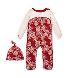 Burt's Bees Baby® 2-Piece Poinsettia Organic Cotton Jumpsuit and Hat Set