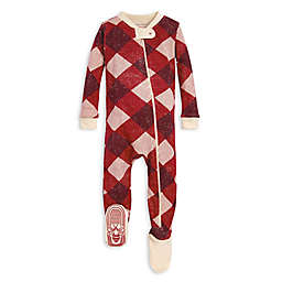 Burt's Bees Baby® Abstract Argyle Organic Cotton Sleeper in Red/Ivory