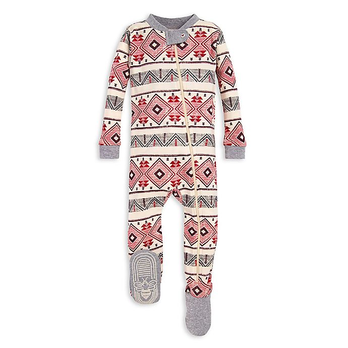 Alternate image 1 for Burt's Bees Baby® Aspen Cabin Organic Cotton Sleeper in Red/Ivory