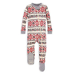 Burt's Bees Baby® Aspen Cabin Organic Cotton Sleeper in Red/Ivory
