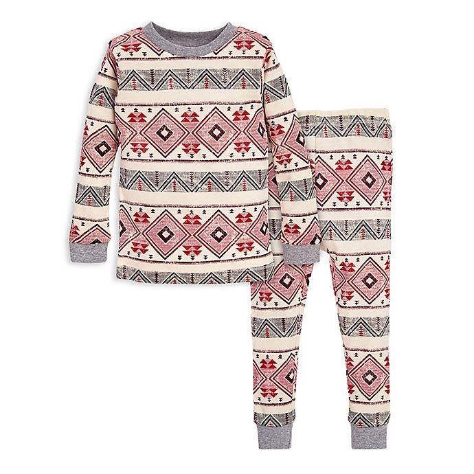 Alternate image 1 for Burt's Bees Baby® 2-Piece Aspen Cabin Organic Cotton Toddler Pajama Set