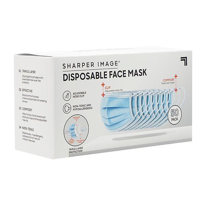 Alternate image 1 for Sharper Image® 3-Layer Mask 50ct