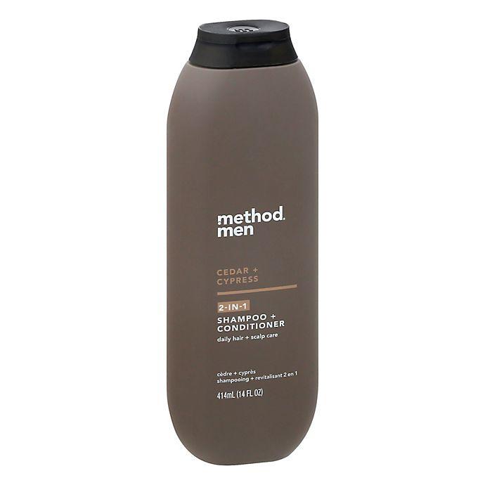 Alternate image 1 for Method Men 14 fl. oz. Cedar + Cypress 2-in-1 Shampoo and Conditioner