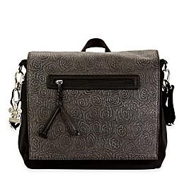 Kalencom® Toyko Diaper Bag Rosebud Print in Black