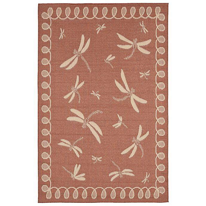 Alternate image 1 for Liora Manne Trans-Ocean Dragonfly 2' x 3' Indoor/Outdoor Accent Rug in Terracotta