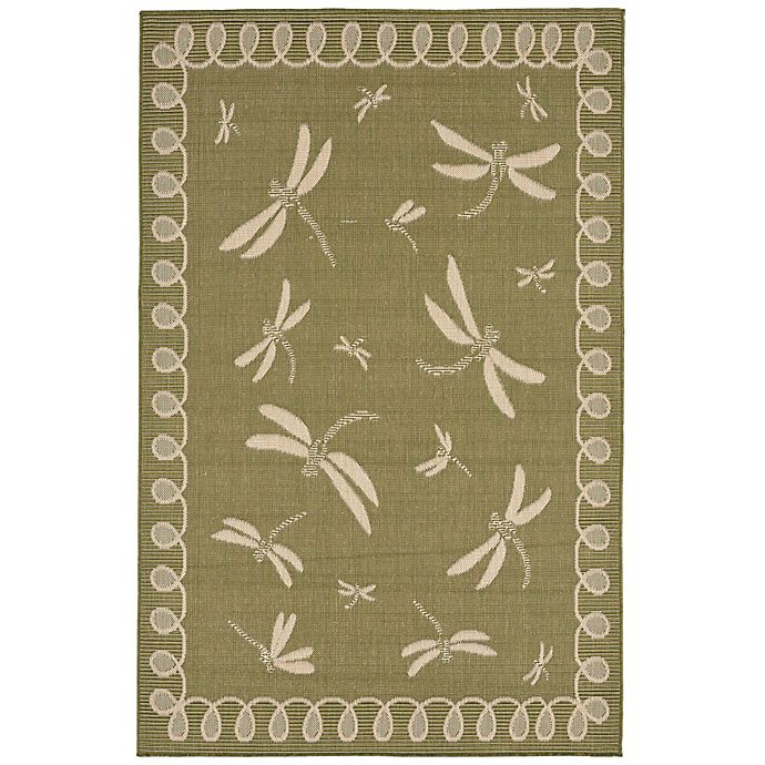 Alternate image 1 for Liora Manne Trans-Ocean Dragonfly 3' x 5' Indoor/Outdoor Area Rug in Green