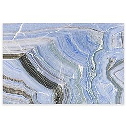 Marmont Hill Blue Quartz Veins 30-Inch x 20-Inch Canvas Wall Art