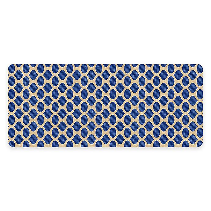 Alternate image 1 for Premium Comfort Weather Guard™ 22-Inch x 52-Inch Geo Kitchen Runner in Blue
