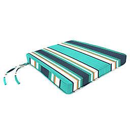 Stripe 17-Inch x 18.5-Inch Chair Cushion in Sunbrella® Token Surfside