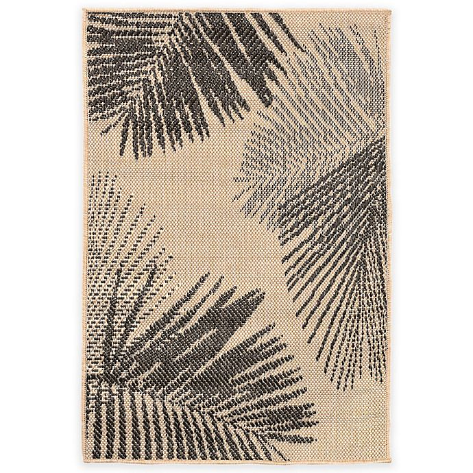 Alternate image 1 for Liora Manne Terrace Palms 1-Foot 11-Inch x 2-Foot 11-Inch Indoor/Outdoor Rug in Neutral