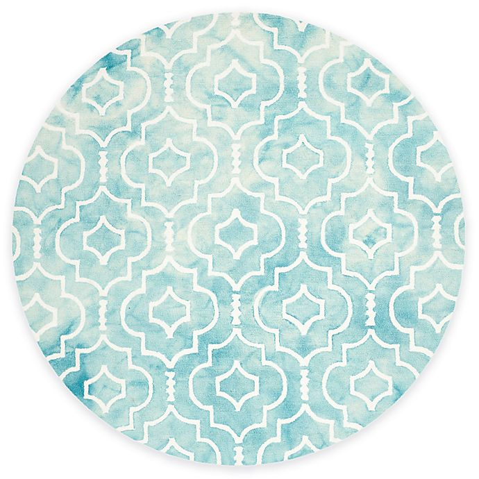 Cot In A Box Morocco Turquoise: Safavieh Dip Dye Moroccan Trellis Rug