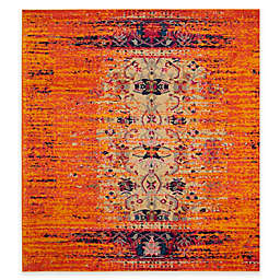 Safavieh Monaco Timeo 6-Foot 7-Inch Square Area Rug in Orange Multi