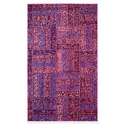 Safavieh Monaco Parquet 4-Foot x 5-Foot 7-Inch Area Rug in Purple/Multi