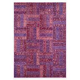 Safavieh Monaco Parquet 6-Foot 7-Inch x 9-Foot 2-Inch Area Rug in Purple Multi
