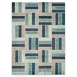 Safavieh Monaco Parquet 8-Foot x 11-Foot Area Rug in Grey/Blue