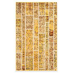 Safavieh Monaco Planks 3-Foot x 5-Foot Area Rug in Yellow Multi