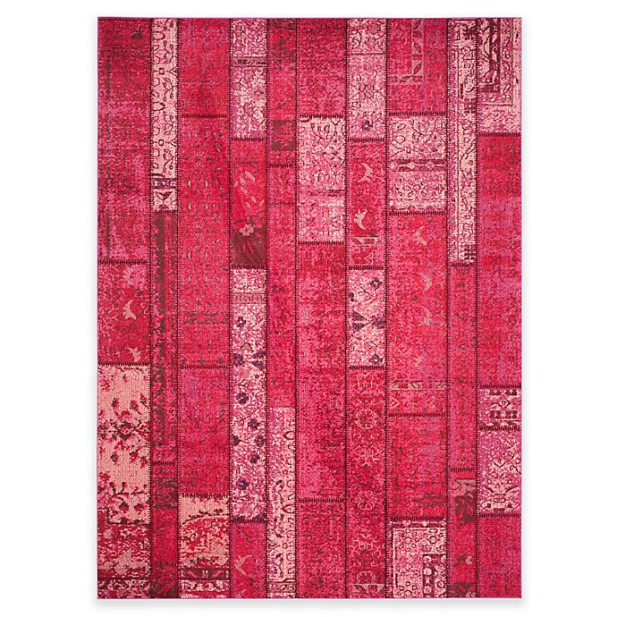 Alternate image 1 for Safavieh Monaco Planks 9-Foot x 12-Foot Area Rug in Pink Multi