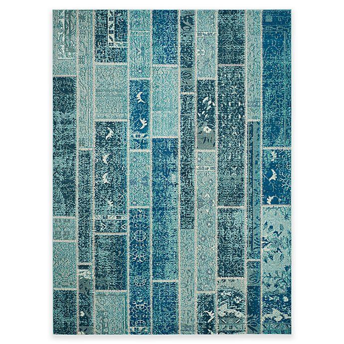 Alternate image 1 for Safavieh Monaco Planks 9-Foot x 12-Foot Area Rug in  Blue Multi