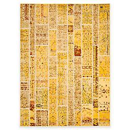 Safavieh Monaco Planks 9-Foot x 12-Foot Area Rug in Yellow Multi