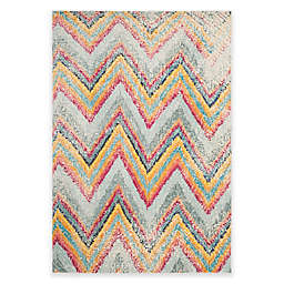 Safavieh Monaco Chevron 6-Foot 7-Inch x 9-Foot 2-Inch Multicolor Area Rug