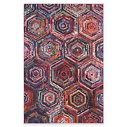 Safavieh Monaco Spiral 4-Foot x 5-Foot 7-Inch Area Rug in Pink Multi