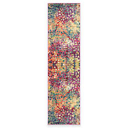 Safavieh Monaco Watercolor 2-Foot 2-Inch x 12-Foot Runner in Pink Multi
