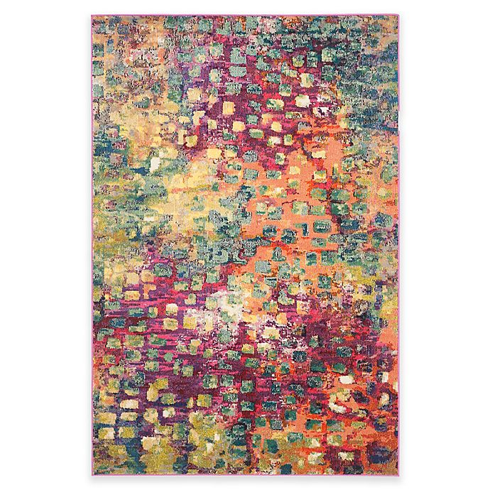 Alternate image 1 for Safavieh Monaco Watercolor Area Rug in Pink Multi