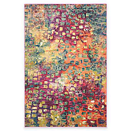 Safavieh Monaco Watercolor 6-Foot 7-INch x 9-Foot 2-Inch Area Rug in Pink Multi
