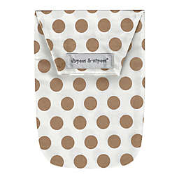 Diapees and Wipees Wipes Case in Gold Dots