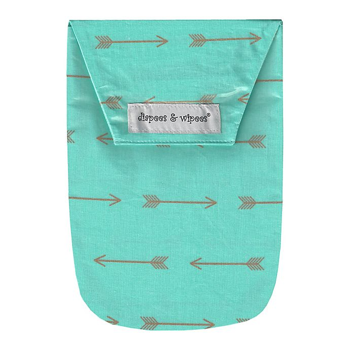 Alternate image 1 for Diapees and Wipees® Wipes Case in Gold Arrows