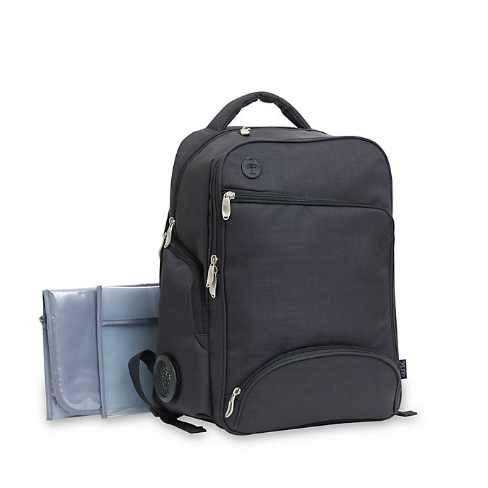 Alternate image 1 for Baby Boom XLR8 Connect and Go Backpack Diaper Bag in Black