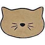 Bone Dry 9.75-Inch x 13.5-Inch Embroidered Microfiber Cat Placemat in Beige