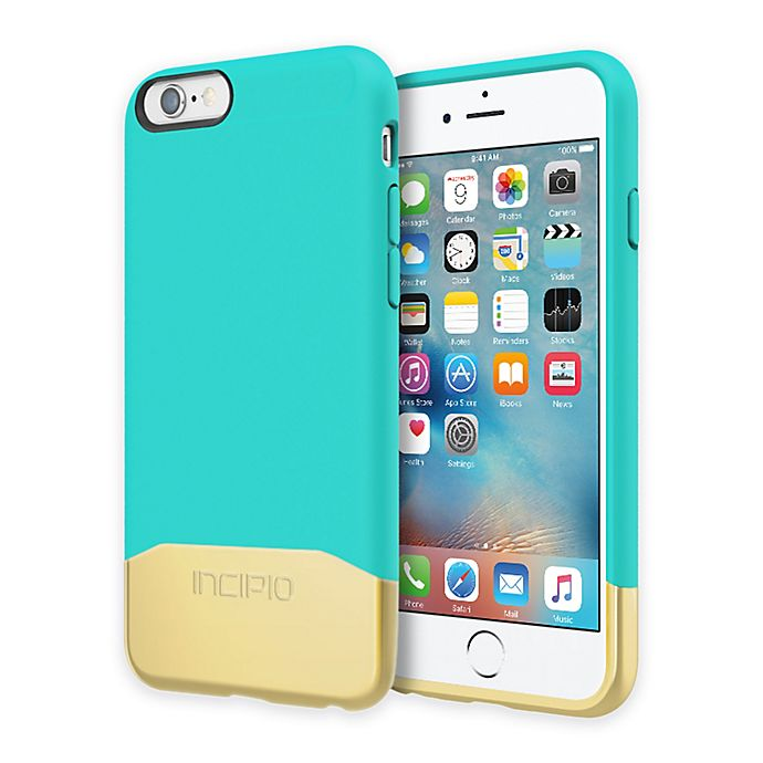 Alternate image 1 for Incipio® EDGE Chrome iPhone 6 Case in Teal/Gold