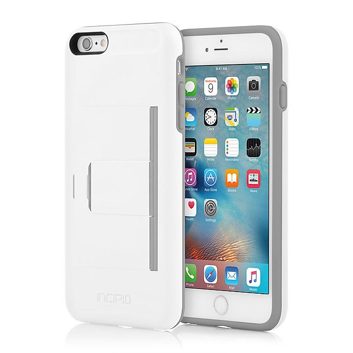 Alternate image 1 for Incipio® STOWAWAY™ Advance Case for iPhone® 6 Plus in White/Grey