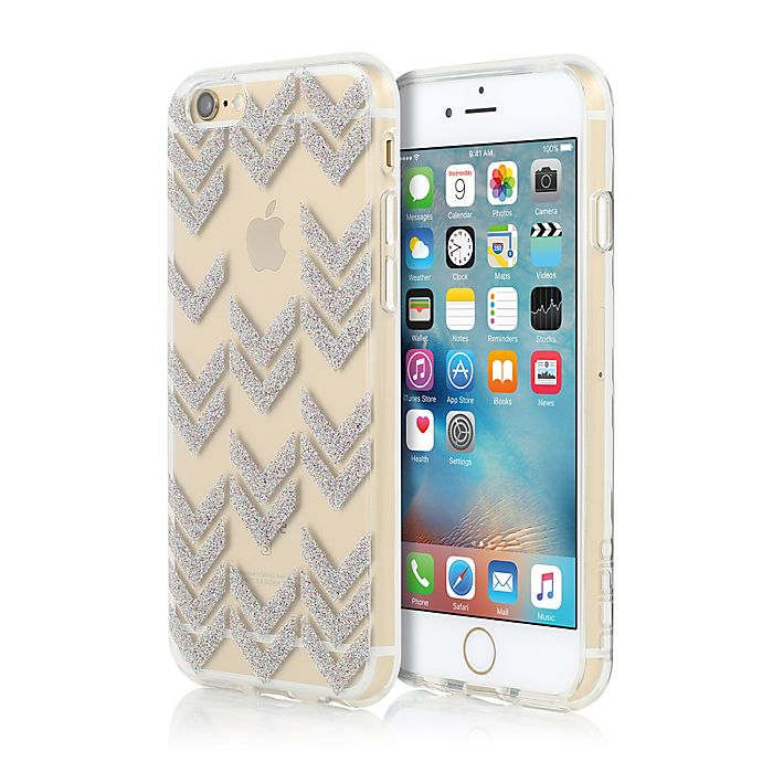 Alternate image 1 for Incipio® Chevron-Patterned ISLA Design Series iPhone 6S Case in Multi-Glitter