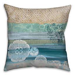 Underwater Sea 16-Inch Square Throw Pillow in Blue/Beige