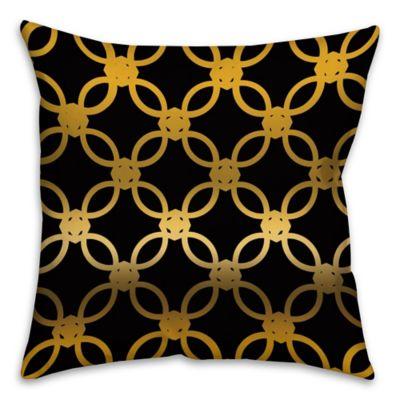quad throw pillow in black gold bed bath beyond. Black Bedroom Furniture Sets. Home Design Ideas