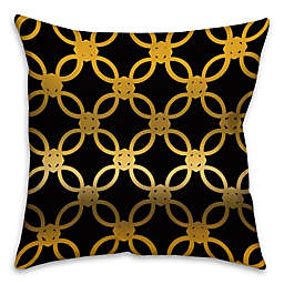 Quad Throw Pillow in Black/Gold
